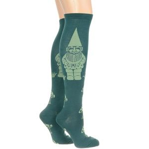 NEW Get To Gnome Me Knee High Socks Green Elf NWT